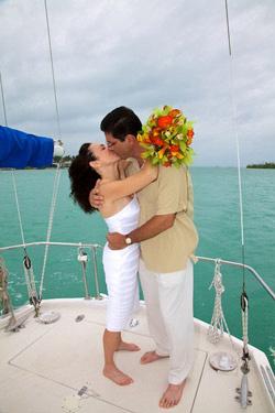 Boat Wedding in Key West